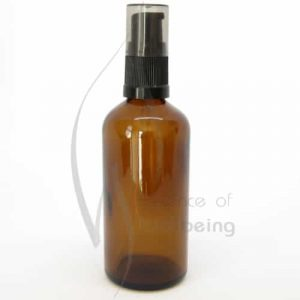 100ml Amber glass bottle with pump attachment