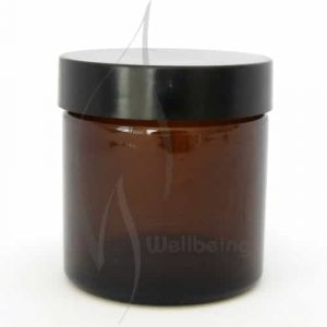 60ml Amber glass Jar with Lid